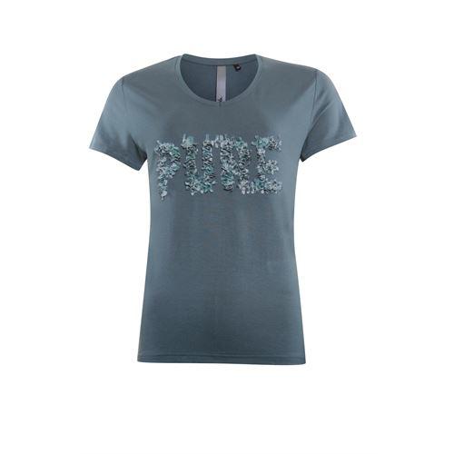 Poools dameskleding t-shirts & tops - t-shirt v neck  pure. beschikbaar in maat  (grijs)