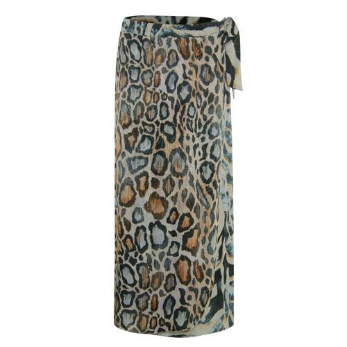 Poools dameskleding rokken - skirt printed wrap. beschikbaar in maat 40,42,44,46 (multicolor)
