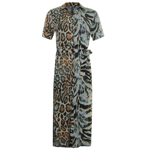 Poools ladieswear dresses - maxi dress printed. available in size  (multicolor)