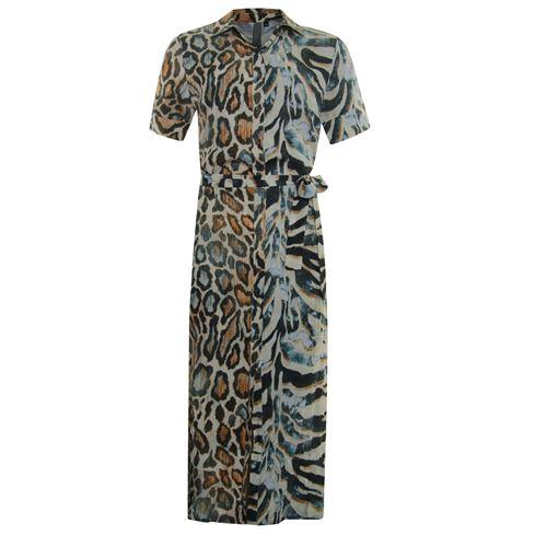 Poools dameskleding jurken - maxi dress printed. beschikbaar in maat 44 (multicolor)