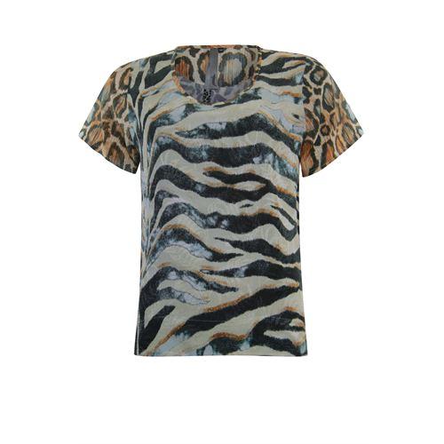 Poools dameskleding blouses & tunieken - blouse printmix. beschikbaar in maat 36,38,42,44,46 (multicolor)