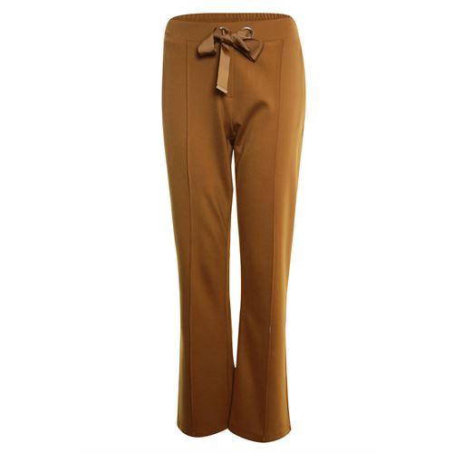 Poools ladieswear trousers - pant heavy jersey wide. available in size 36,38,40,42,44,46 (brown)