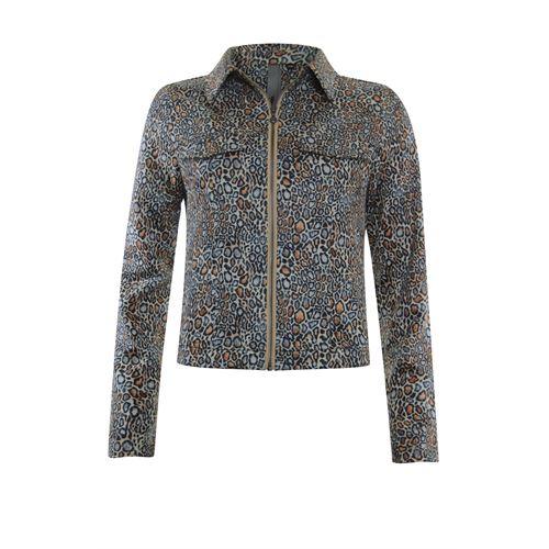 Poools dameskleding jassen & blazers - jacket print ritssluiting. beschikbaar in maat  (multicolor)