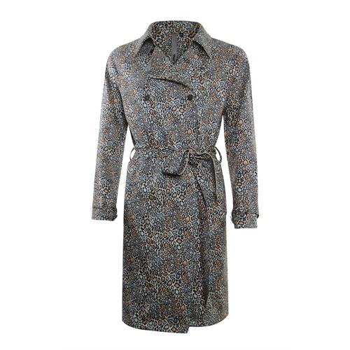 Poools ladieswear coats & jackets - trenchcoat printed. available in size 38,40,42,46 (multicolor)