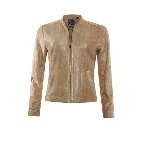 Poools ladieswear coats & jackets - jacket shiny. available in size 36,38,44,46 (brown)