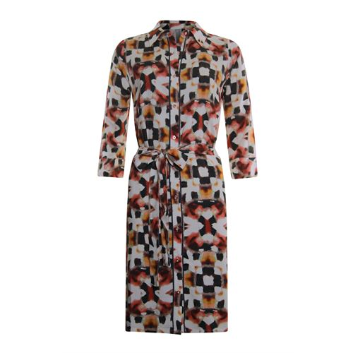 Poools dameskleding jurken - dress print button closure. beschikbaar in maat 42,44,46 (multicolor)