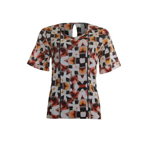 Poools ladieswear blouses & tunics - blouse o neck print. available in size 36,40,42,44,46 (multicolor)