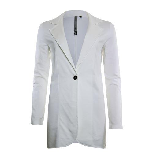 Poools dameskleding jassen & blazers - plain jacket long. beschikbaar in maat 36,42,46 (ecru)