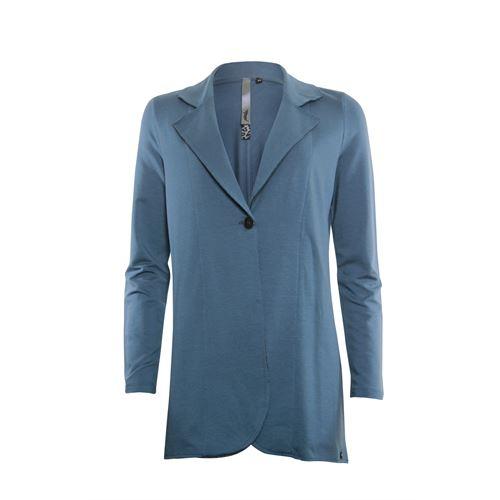 Poools dameskleding jassen & blazers - plain jacket long. beschikbaar in maat 38,40,42,44 (blauw)