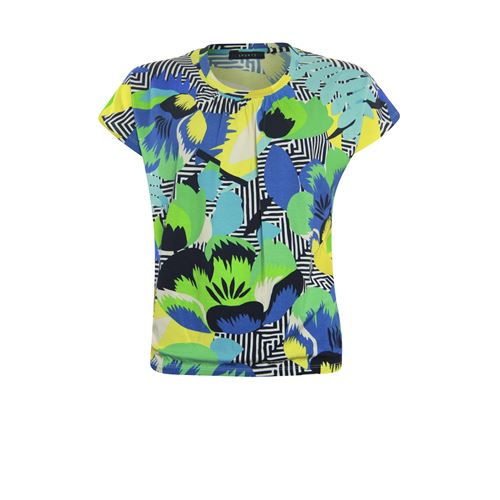 RS Sports ladieswear t-shirts & tops - blouson elastic s/s. available in size 38,40,42,44,46 (multicolor)