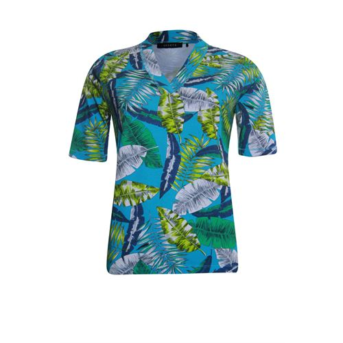 Roberto Sarto ladieswear t-shirts & tops - t-shirt v-neck s/s. available in size 38,40,42,44,46,48 (multicolor)