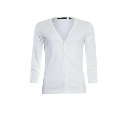 RS Sports ladieswear pullovers & vests - cardigan 3/4 sl. available in size 38,40,42,44,46,48 (white)