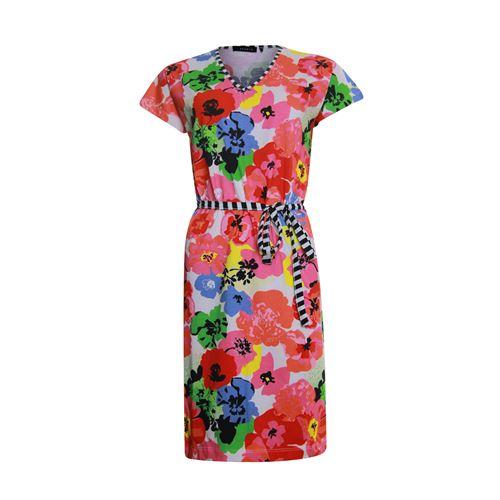 RS Sports dameskleding jurken - jurk v-hals k/m. beschikbaar in maat 38,40,42,44,46,48 (multicolor)
