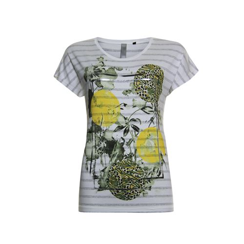 Poools ladieswear t-shirts & tops - t-shirt stripe. available in size 36,38,40,42,44,46 (off-white)