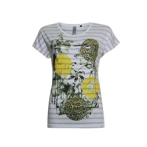 Poools dameskleding t-shirts & tops - t-shirt stripe. beschikbaar in maat 36,38,40,44,46 (ecru)