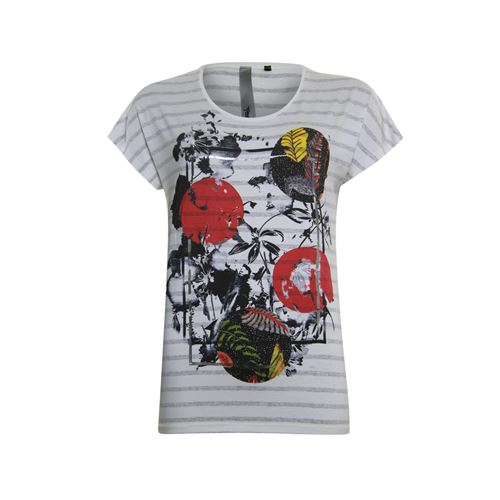 Poools ladieswear t-shirts & tops - t-shirt stripe. available in size 36,38,40,42,44,46 (multicolor)