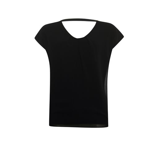 Poools ladieswear t-shirts & tops - t-shirt woven front. available in size 38 (black)