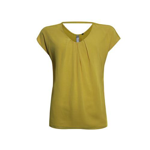 Poools dameskleding t-shirts & tops - t-shirt woven front. beschikbaar in maat 36,38,40,42,44,46 (geel)