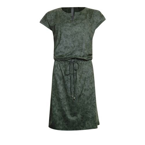 Poools ladieswear dresses - dress drawstring. available in size 36,38,40,42,44,46 (olive)