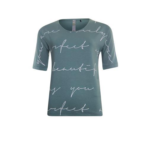 Poools dameskleding t-shirts & tops - t-shirt handwritten. beschikbaar in maat 38,40,42 (grijs)