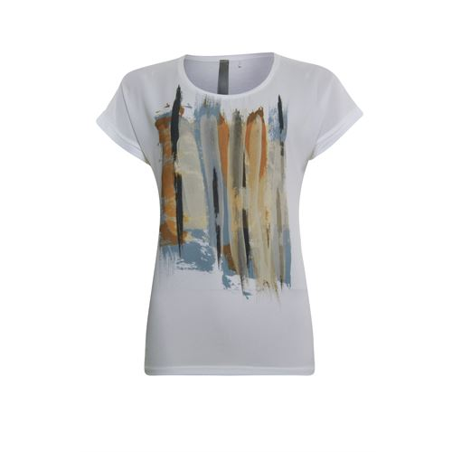 Poools ladieswear t-shirts & tops - t-shirt paint. available in size 36,38,40,42,44 (off-white)