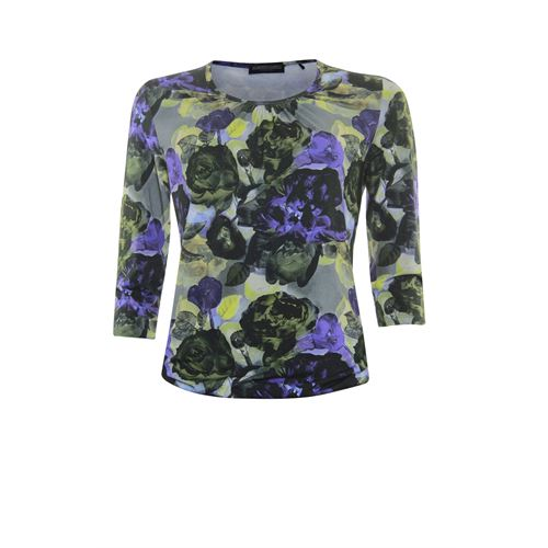 Roberto Sarto ladieswear t-shirts & tops - t-shirt blousonstyle. available in size 38,40,42,44,46,48 (blue,green,multicolor,olive)