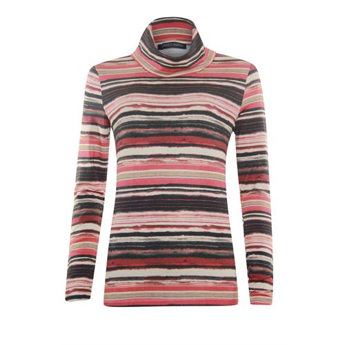 Roberto Sarto ladieswear t-shirts & tops - t-shirt rollcollar l/s. available in size 38,40,44,46 (black,multicolor,off-white,red)