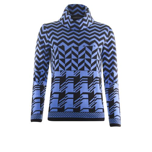 Roberto Sarto ladieswear pullovers & vests - pullover rolcollar l/s. available in size 42,44,46,48 (blue,brown,multicolor)