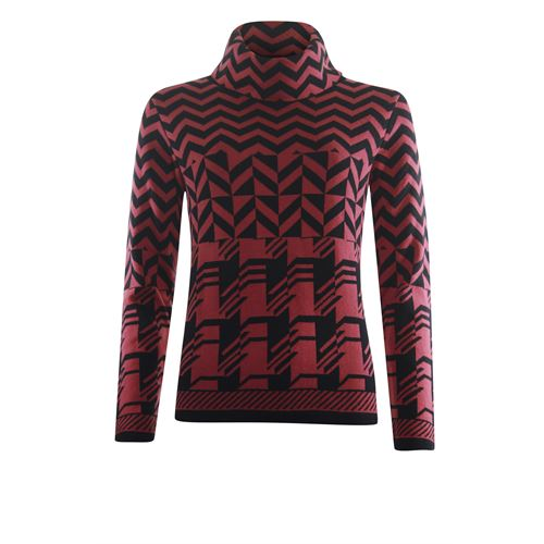 Roberto Sarto ladieswear pullovers & vests - pullover rolcollar l/s. available in size 38,40,44,46,48 (black,multicolor,red)