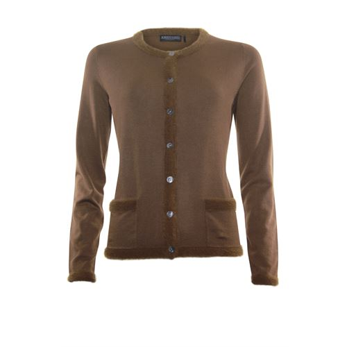 Roberto Sarto ladieswear pullovers & vests - cardigan l/s. available in size 38,40,42,44,46,48 (brown)