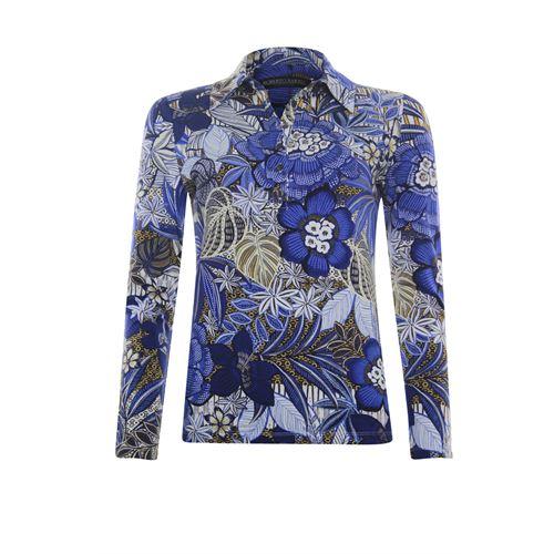Roberto Sarto dameskleding blouses & tunieken - t-shirt polo. beschikbaar in maat 42 (blauw,bruin,ecru,multicolor)