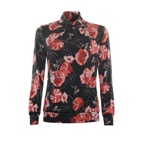 Roberto Sarto dameskleding t-shirts & tops - t-shirt blousonmodel. beschikbaar in maat 40,44 (ecru,multicolor,rood,zwart)
