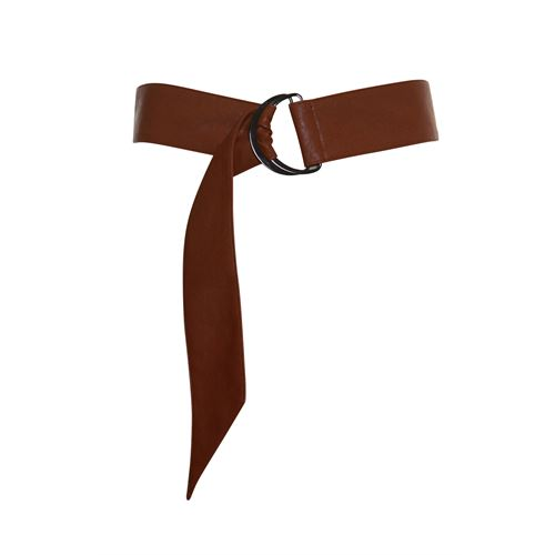 Anotherwoman ladieswear accessories - letherlook belt. available in size one size (brown)