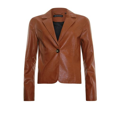 Anotherwoman ladieswear coats & jackets - leatherlook blazer. available in size 36,38,40,42,44,46 (brown)