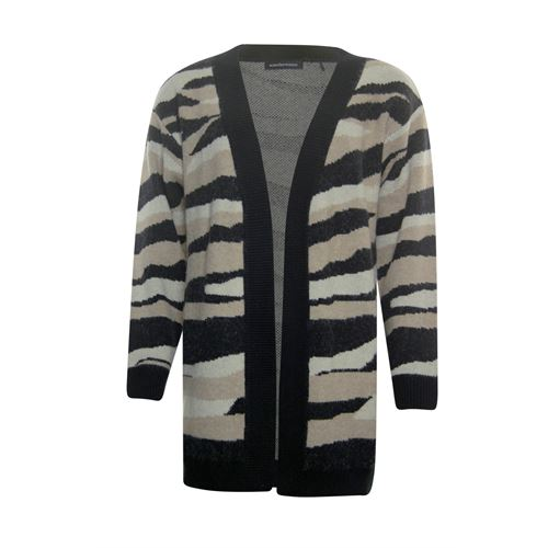 Anotherwoman ladieswear pullovers & vests - cardigan camo. available in size 36,38,40,42,44,46 (black,brown,multicolor,off-white)