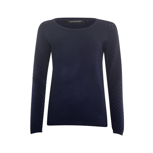 Anotherwoman ladieswear pullovers & vests - pullover ajour sleeve. available in size 36,38,40,42,44,46 (blue)