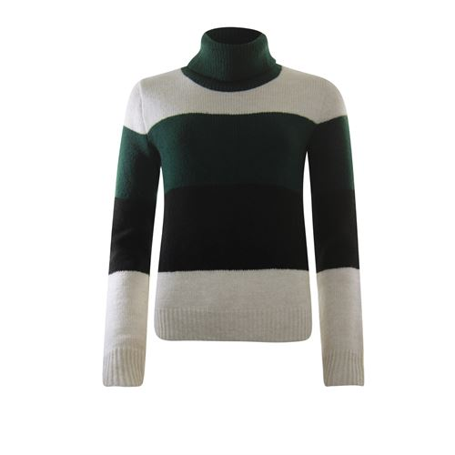 Anotherwoman ladieswear pullovers & vests - pullover colourblock stripe. available in size 36,38,40,42,44,46 (black,brown,green,multicolor)
