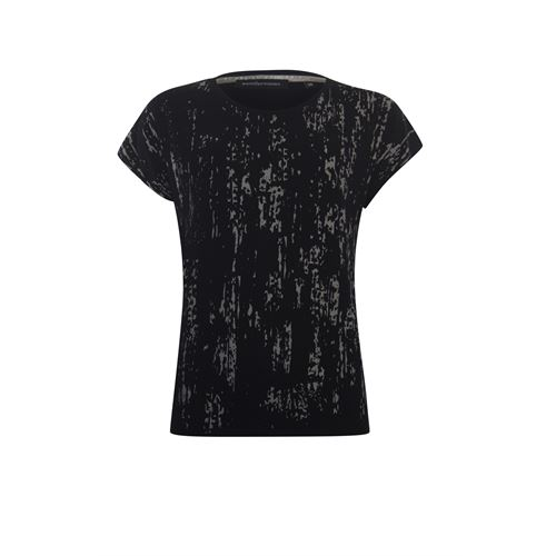Anotherwoman ladieswear t-shirts & tops - t-shirt foil print. available in size 36,38,44,46 (black)