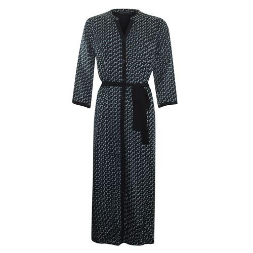Anotherwoman dameskleding jurken - lange overhemd jurk geo. beschikbaar in maat 36,38,40,42,44,46 (bruin,groen,multicolor,zwart)