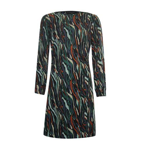 Anotherwoman dameskleding jurken - camo jurk. beschikbaar in maat 38,40,42,44 (blauw,bruin,multicolor,zwart)