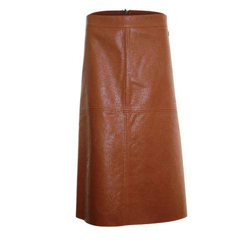 Anotherwoman dameskleding rokken - leatherlook rok. beschikbaar in maat 36,38,40,42,44,46 (bruin)