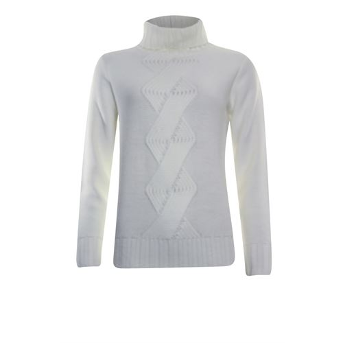 Anotherwoman ladieswear pullovers & vests - pullover xl cable. available in size 36,38,40,42,44 (off-white)
