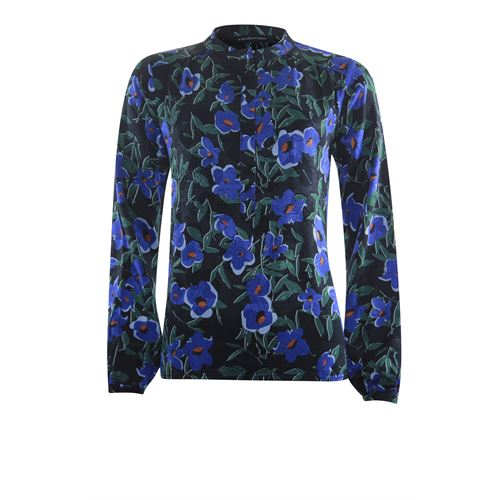 Anotherwoman ladieswear blouses & tunics - blouse queen flower. available in size 36,38,40,42,44,46 (black,blue,green,multicolor)