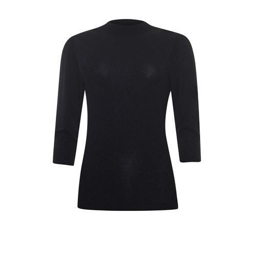 Anotherwoman ladieswear t-shirts & tops - lurex top 3/4 sleeve. available in size 36,38,40,42,44 (black)