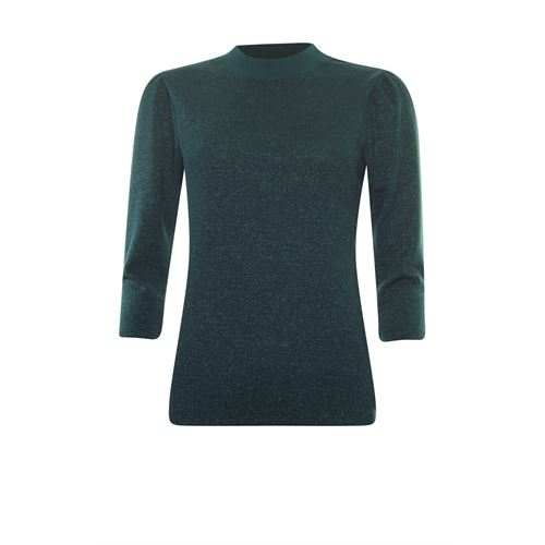 Anotherwoman ladieswear t-shirts & tops - lurex top 3/4 sleeve. available in size 36,38,40,42,44,46 (green)