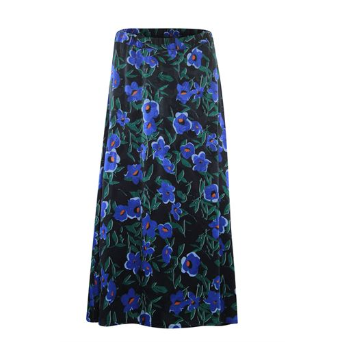 Anotherwoman ladieswear skirts - circle skirt queen flower. available in size 36,38,40,42,44,46 (black,blue,green,multicolor)