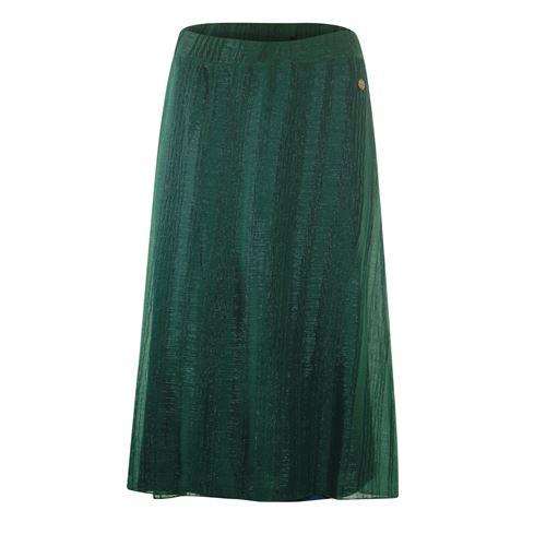 Anotherwoman dameskleding rokken - structuur rok. beschikbaar in maat 36,38,40,42,44,46 (groen)