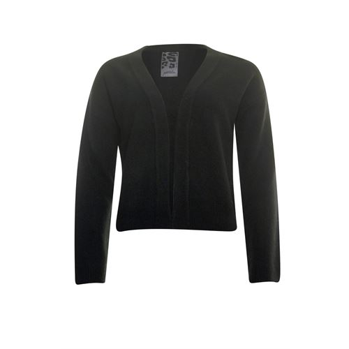 Poools ladieswear pullovers & vests - cardigan compact yarn. available in size 38,40,42,44,46 (black)