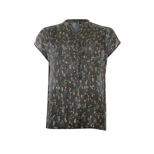 Poools dameskleding blouses & tunieken - blouse print. beschikbaar in maat 46 (groen,multicolor,oranje,zwart)