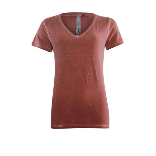 Poools dameskleding t-shirts & tops - t-shirt studs. beschikbaar in maat  (rood)